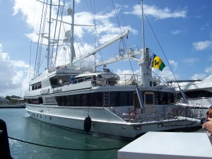 The 192' luxury yacht the Universe provided